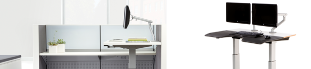 Adjustable Height Office table Houston small