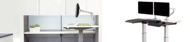Adjustable Height Office table Houston small